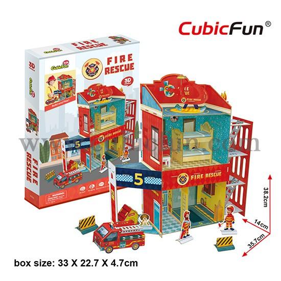 3d puzzle - fire rescue