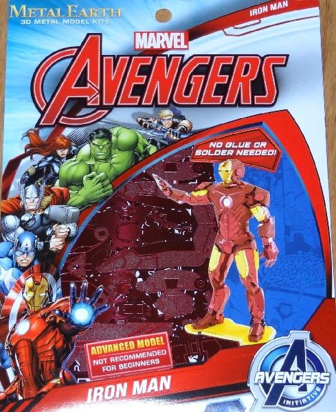 จิ๊กซอว์โลหะ 3 มิติ : marvel iron man (mark iv)