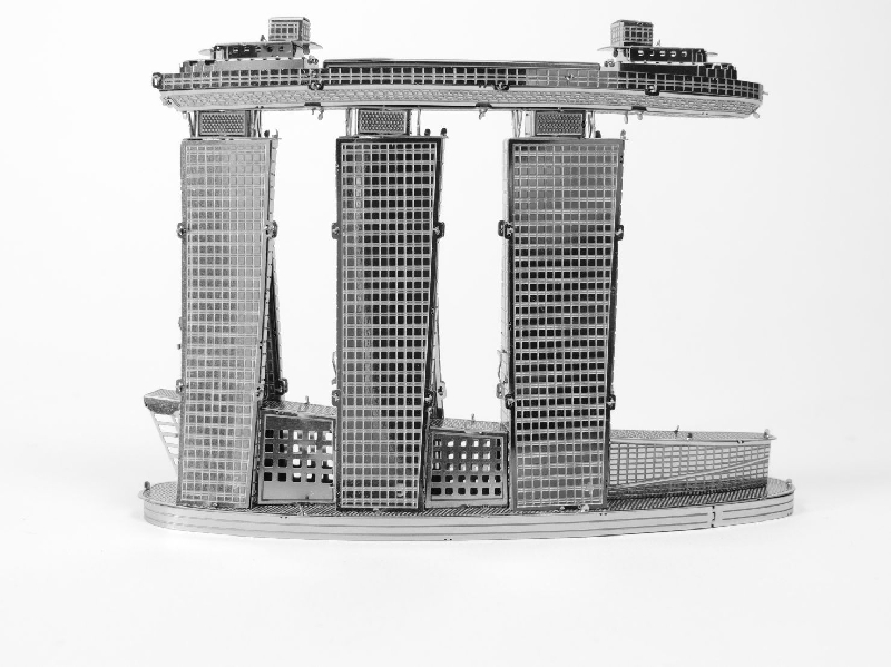 Marina bay sands - metal 3d puzzle