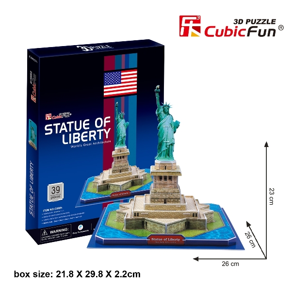 Free gift 3d puzzle statue of liberty