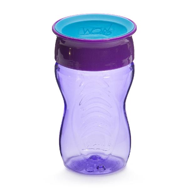 แก้วน้ำหัดดื่ม wow kids - สีม่วง