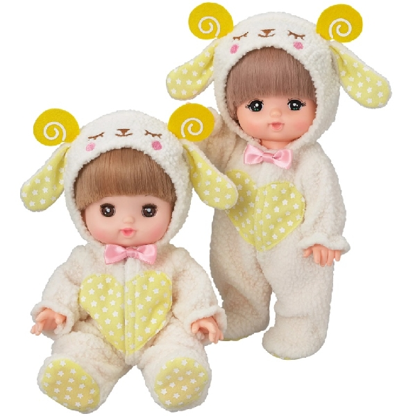 Mell chan dress up kit - hooded sheep jumpsuit