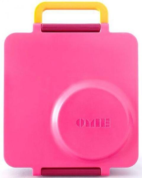กล่องอาหาร omiebox สีชมพู