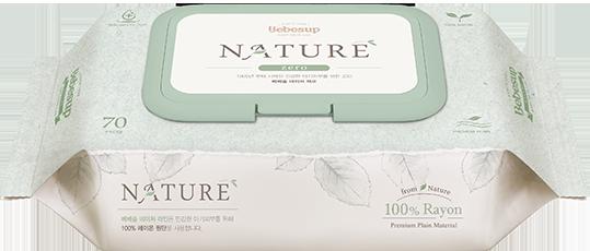 Bebesup wet wipes nature zero 70 cap - biodegradable