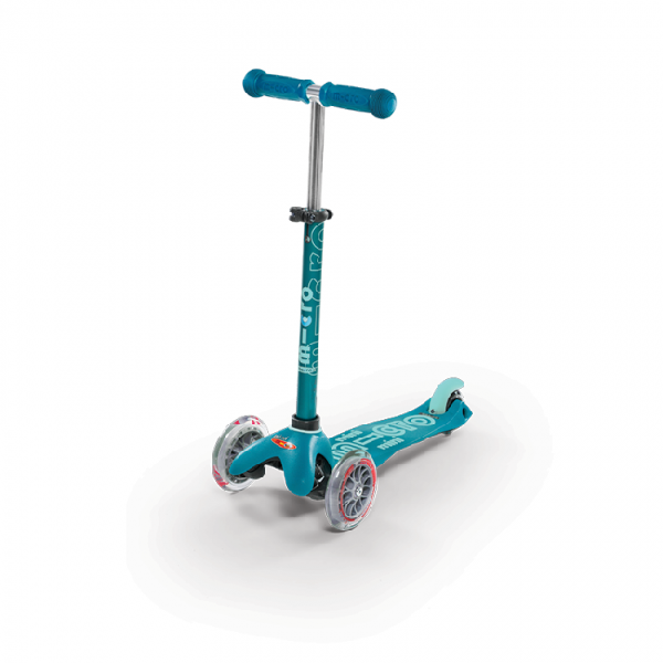 Mini micro deluxe scooter aqua