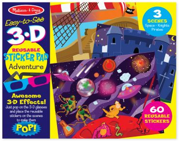 3d reusable sticker pad - adventure