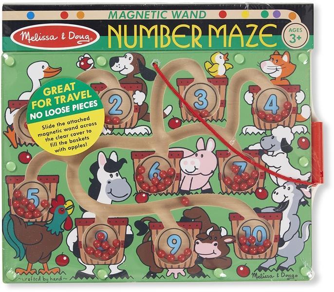 Magnetic number maze