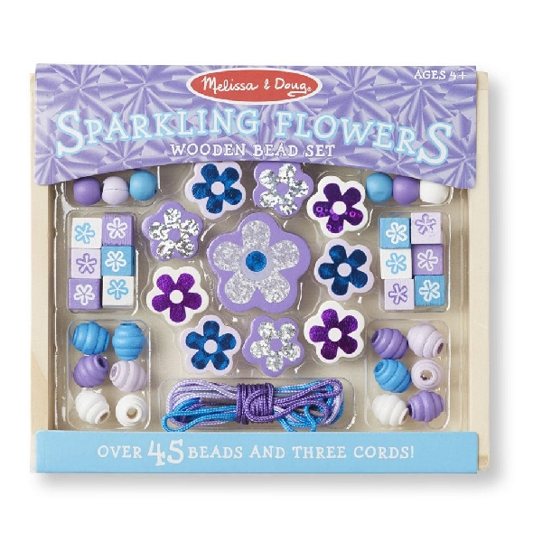 Sparkling flower bead set