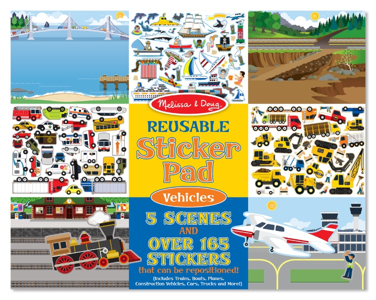 Reusable sticker road vehicles