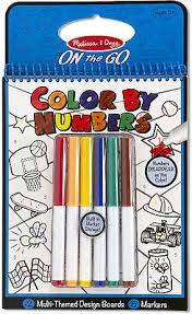 Color by numbers blue