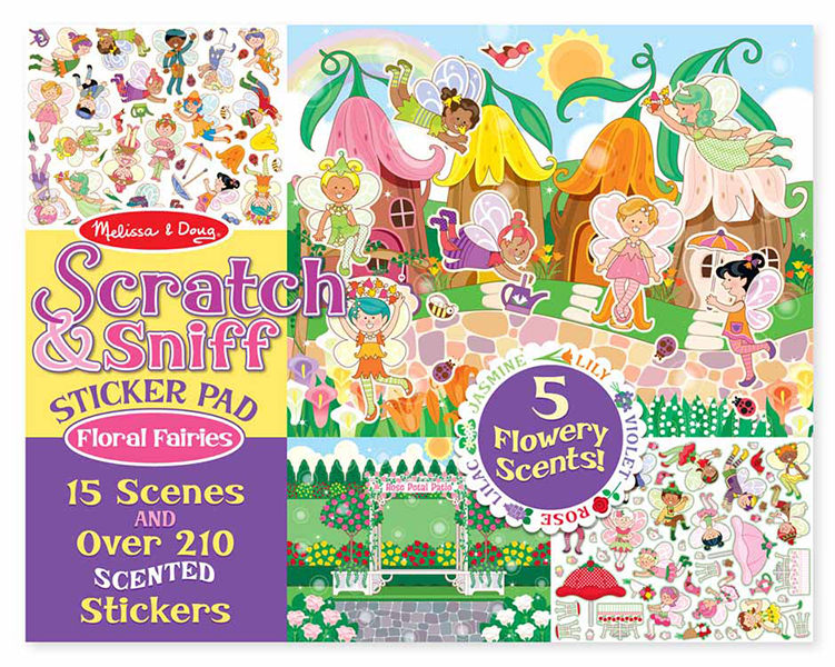Scratch & sniff sticker pad - flora town