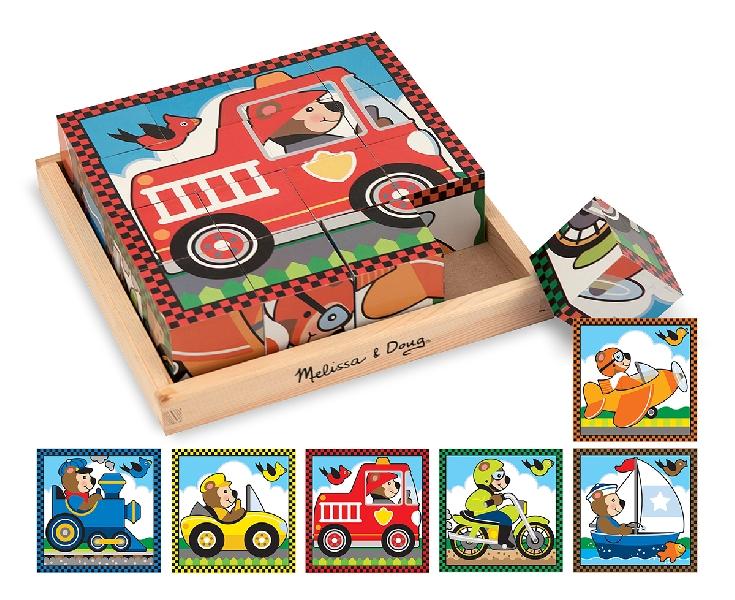 cube puzzle - vehicles