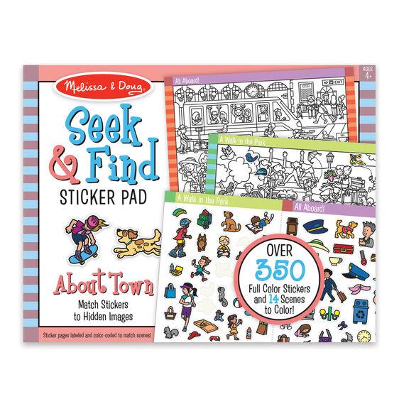 Seek & find sticker pad- around town