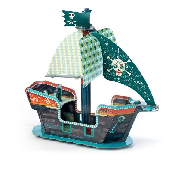 จิ๊กซอว์เรือโจรสลัดสามมิติ