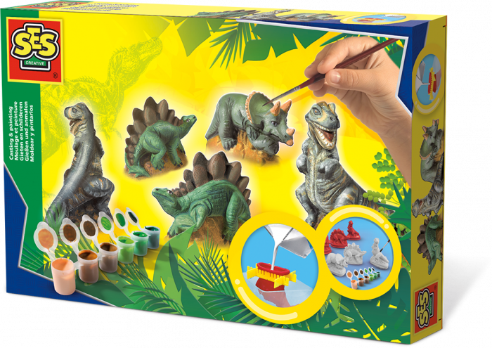 Ses - ชุดระบายสีตุ๊กตาปูนปลาสเตอร์ ชุดไดโนเสาร์