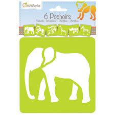 Assorted wild animals stencils