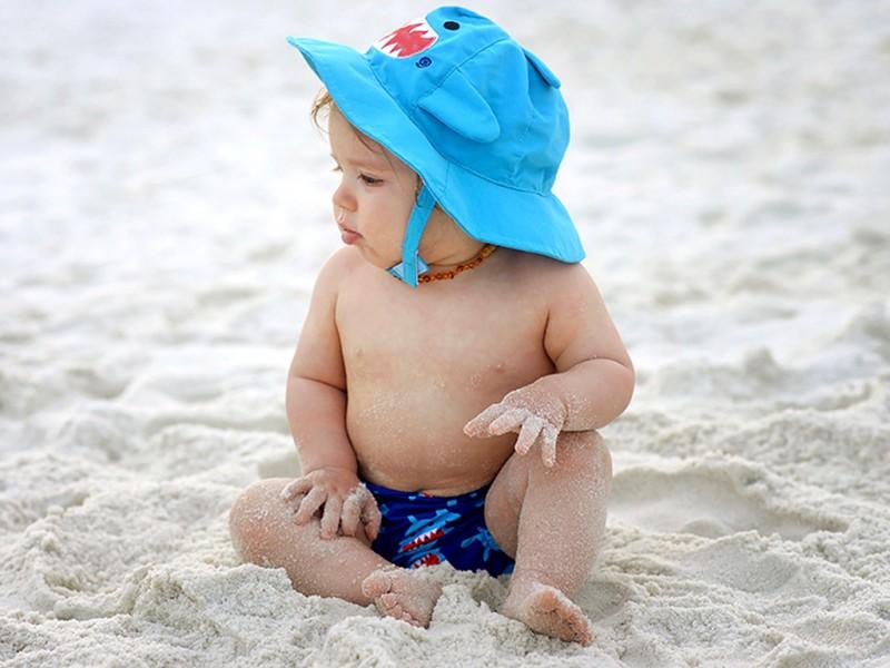Baby Swim Diaper   Sun Hat Set - Shark Zoocchini 3974299575e