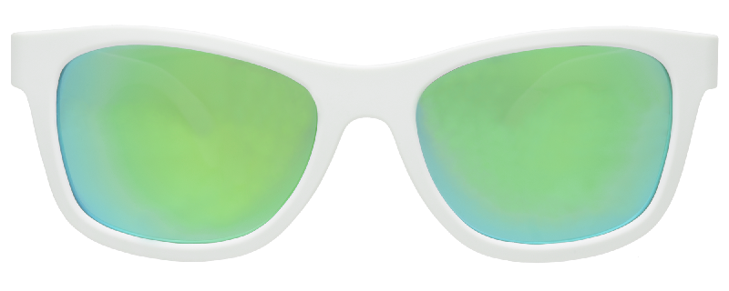 Aces navigator white with green lens