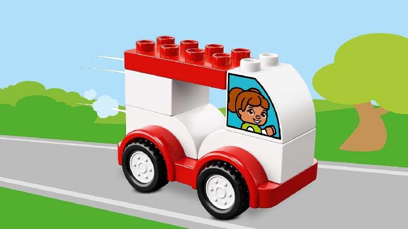 ตัวต่อเลโก้ duplo 10860 : ชุดเลโก้รถแข่งคันแรก