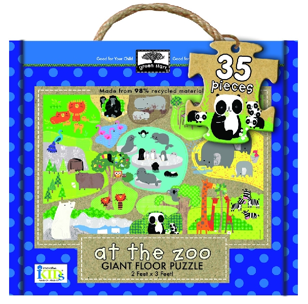 Giant floor puzzle : at the zoo