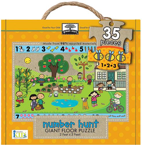 Giant floor puzzle : number hunt