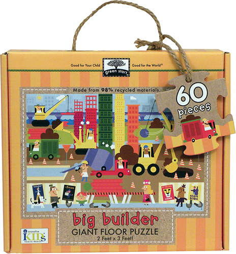 Giant floor puzzle : big builder