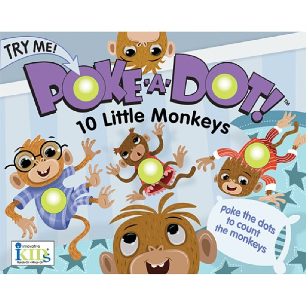 Poke a dot - 10 little monkeys