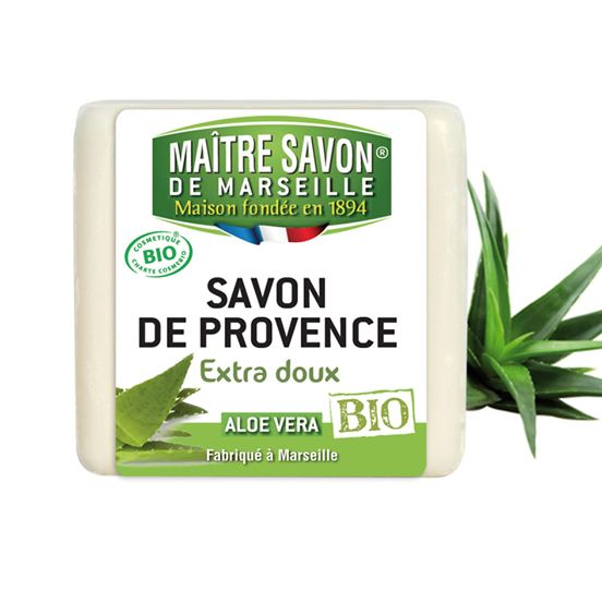 savon de provence extra doux bio aloe vera maitre savon de marseille enginou play learn. Black Bedroom Furniture Sets. Home Design Ideas