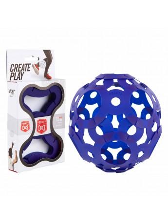 ลูกบอลตัวต่อ 3d สีฟ้า