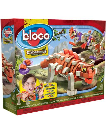 bloco - ankylosaur & young raptors