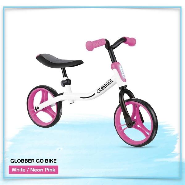 จักรยานขาไถ globber สีขาว/ชมพู