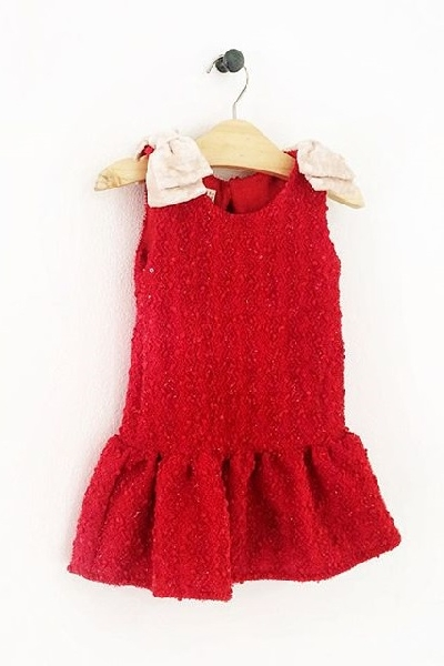 1343024f4 TILDA Party Dress Red May day Kidswear