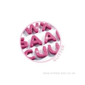 Pink alphabet sticker