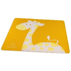 Placemat - yellow (lola the giraffe)