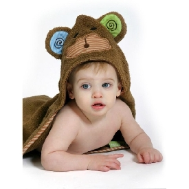 Baby hooded towels - max the monkey