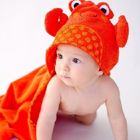 Baby Hooded Towels - Charlie the crab