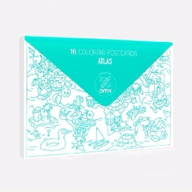 Pack Of 16 Postcards - Atlas