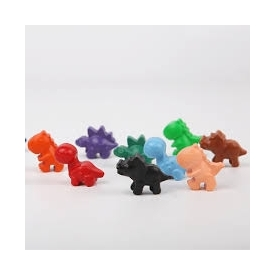 Beeswax crayon - cute dinosaurs