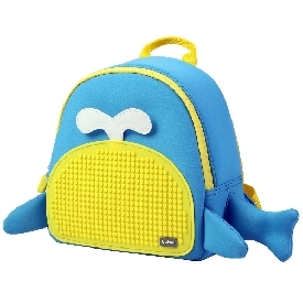 Upixel little blue whale backpack