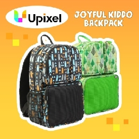 Upixel joyful kiddo backpack(black+green)
