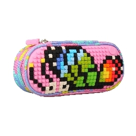 Upixel super class pencil case(pink+blue )
