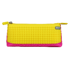 Bright  color pencil case (yellow + light blue )