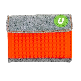 Upixel wallet (orange-grey)