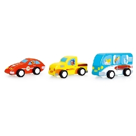 Set of 3 pull-back cars