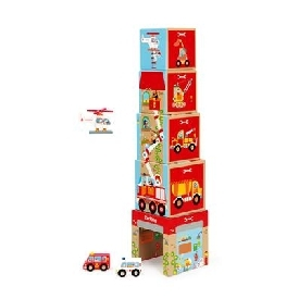 Stacking tower on the road