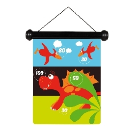 Magnetic darts dinosaur