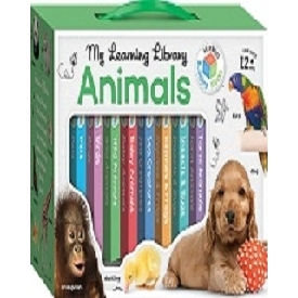 Building blocks learning library 8 board book set - animals