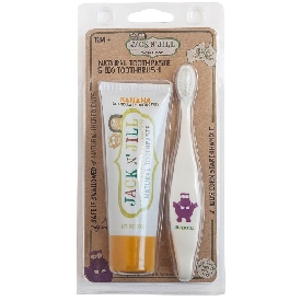 Natural toothpast & bio toothbrush banana