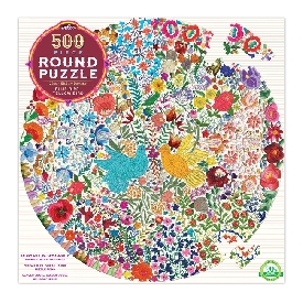 Blue Bird Yellow Bird 500 Piece Round Puzzle