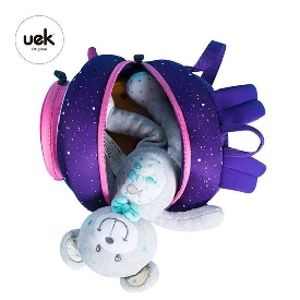 Uek rocket backpack purple/pink - m